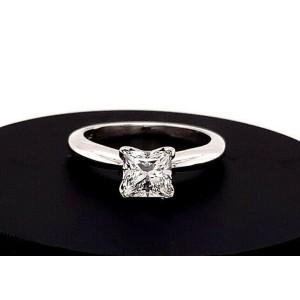 Princess Cut Diamond 1.05 Carat G I1 GIA Solitaire Engagement Ring