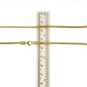 """Auth John Hardy 18K Yellow Gold Reversible Classic Chain Necklace Size 22"""" $3900"""