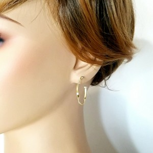Auth MARCO BICEGO 18K Yellow Gold MARRAKECH Collection Small Hoop Earrings