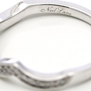 Neil Lane Diamond Engagement Ring and Wedding Band Set in 14k White Gold