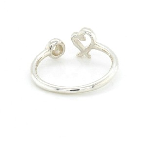 Auth Tiffany & Co 925 Sterling Silver Diamond Heart Wire Ring Size: 6 »U59 $3000