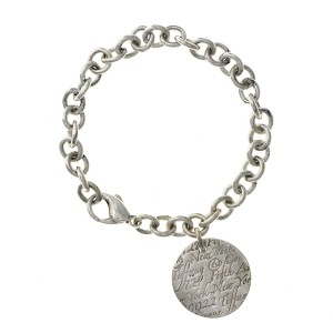 "Tiffany & Co. Sterling Silver NEW YORK Tiffany Round Charm Bracelet  6.5""»U220"