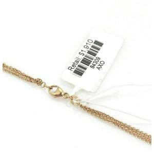 Bucherer 18k Pink Gold Triple Strand Chain Necklace