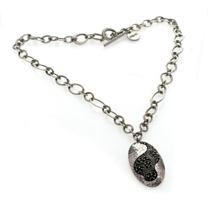 """Auth Lois Hill 925 Sterling Silver Filagree Necklace Size 18"""" »U217"""