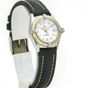 Breitling Callistino Women's 18k Gold Stainless Steel Quartz Sports Watch D52045