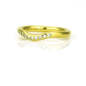 Tiffany & Co. Elsa Peretti Diamond Curved Band Ring in 18k Yellow Gold