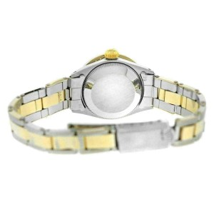 Ladies Rolex Oyster Perpetual Date 6517 Steel & Gold Diamond MOP 26MM Watch