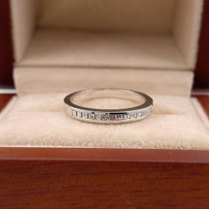 Jeff Cooper Eternal Emily Diamond Wedding Band 18kt White Gold 2 MM
