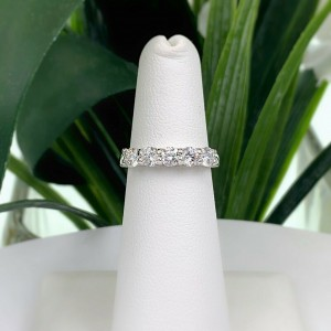 1.00 tcw Five Stone Ideal Cut Diamond Band Ring set in 14K White Gold