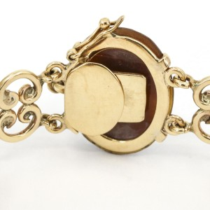 Vintage Cameo Link Bracelet in 14k Yellow Gold