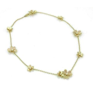 Van Cleef & Arpels Frivole 9 Flower Diamond 18k Yellow Gold Necklace