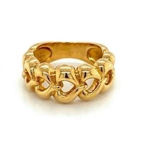 Van Cleef & Arpels 18k Yellow Gold Open Hearts Ring