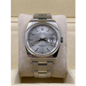 Rolex Datejust 116200 Silver Dial Stainless Steel Box Papers 2018