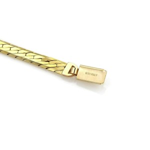 "Herringbone 14k Yellow Gold 5.8mm Wide Necklace 30"" Long"