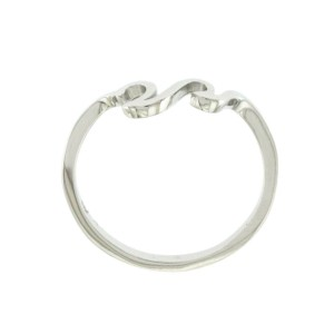 Women's 925 Sterling Silver Waves Ocean Sea Band Ring Size 3-12