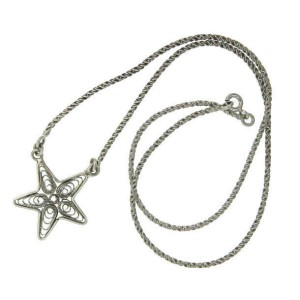 """¦925 sterling Silver Bali Star 16"""" Necklace »"""