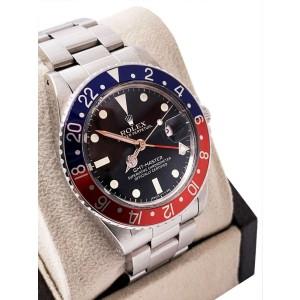 VINTAGE Rolex GMT Master 16750 Pepsi Red Blue Matte Stainless UNPOLISHED 1983