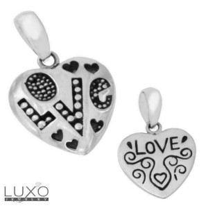 ¦925 Sterling Silver High Quality Handmade Love Hearts Pendant »P318