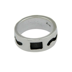 Authentic ZINA 925 Sterling Silver Band Ring