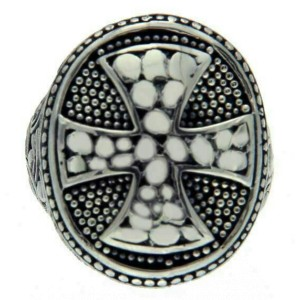 925 Sterling Silver Cross Men Ring Size 8.5 »R13 FREE SHIPPING
