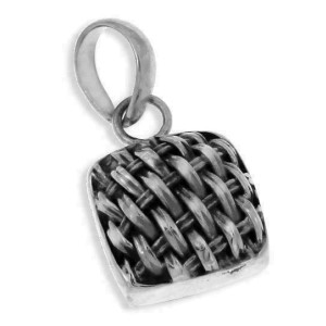 ¦Solid Sterling Silver Handmade BRAIDED Pendant MOM GIFT»P#31