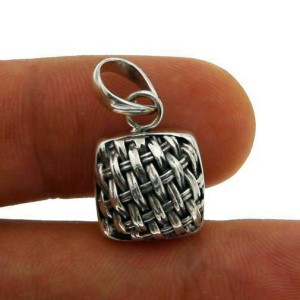¦Solid Sterling Silver Handmade BRAIDED Pendant