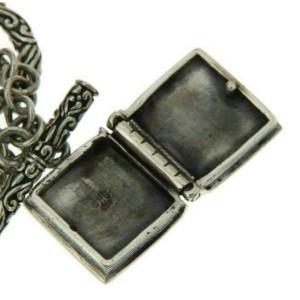 ¦925 Sterling Silver Bali Cross Book Box Prayer Locket Bracelet Size 6.5 » B36