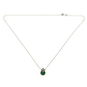 "14K Gold 0.08 CT Diamonds 1.35 CT Invisible Set Tsavorite Necklace 18"" »BL111"
