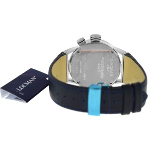 New Locman Montecristo Ref. 508 GMT World Time Titanium Men's Quartz 44MM Watch
