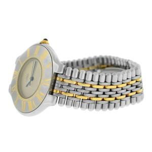 Cartier Must de Cartier 21 Men's Unisex Steel Gold Bullet Quartz 35MM Watch