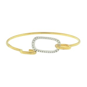 18k Two Tone Marco Bicego Diamond Wire Bangle Bracelet