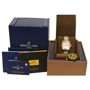 Breitling Galactic 36 C37330121A1C1 Ladies 18K Gold MOP 36MM Automatic Watch