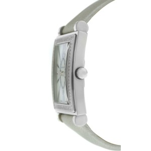 Tourneau Tank 12006-R04 Ladies Diamond MOP Steel 25MM Quartz Watch