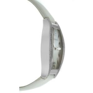 Tourneau Rectangle 12006-T02 Ladies Diamond MOP Steel 26MM Quartz Watch
