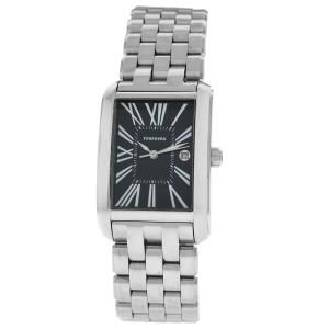 Tourneau Classic A4922WB-BLK Ladies Stainless Steel 25MM Quartz Watch
