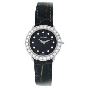 Tourneau Super Oro Round CA4138-BK Diamond 18K White Gold Quartz 28MM Watch