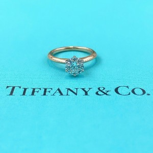 Tiffany & Co Round Diamond 1.18 cts H VS1 Engagement Ring 18k Rose Gold Papers
