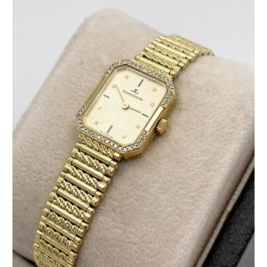 Jaeger LeCoultre Diamond Bezel Ladies Watch 18K Yellow Gold Watch