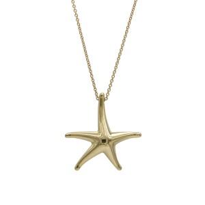 Tiffany & Co. Elsa Peretti Starfish Necklace in 18k Yellow Gold