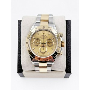 Rolex Daytona 116523 Champagne Dial 18K Yellow Gold Stainless Steel with Box