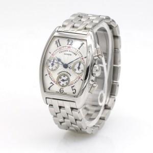 Franck Muller Cintree Curvex Chronograph Ladies Stainless Steel Watch 7502 CC