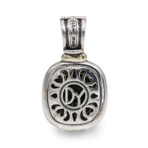 David Yurman Sterling Silver Onyx Albion Pendant with 14k Gold