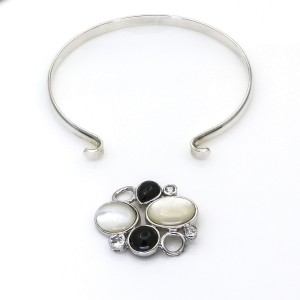 LeStage Convertible Bracelet with Rock Garden Pebbles Clasp in Sterling Silver