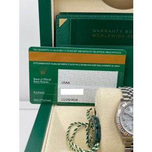 BRAND NEW Ladies Rolex Datejust 279174 MOP Diamond Dial Stainless 28mm Box Paper