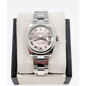 Rolex 31mm Midsize 178240 Datejust Pink Dial Stainless Steel Box Booklets