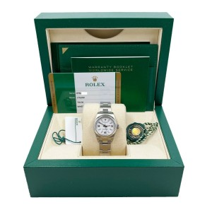 Rolex 176200 Ladies Oyster Perpetual White Dial Stainless Steel 2019 Box Papers