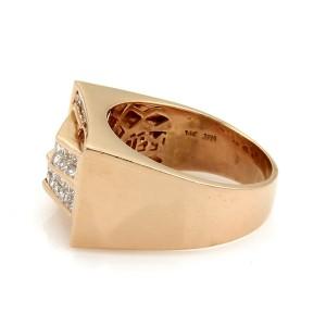 Rectangular 1.85ct Diamond 14k Rose Gold Fancy Top Ring