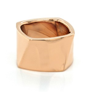 Authentic Tiffany & Co. 18K Rose Gold Frank Gehry Torque Wide Ring Size 5.5