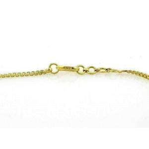 """Elegant 22k Gold Blue Sapphires Necklace 14.5"""" Long"""