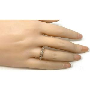 Tiffany & Co. Metro 1.14ct Rose Cut Diamond Eternity 18k Rose Gold Band Ring